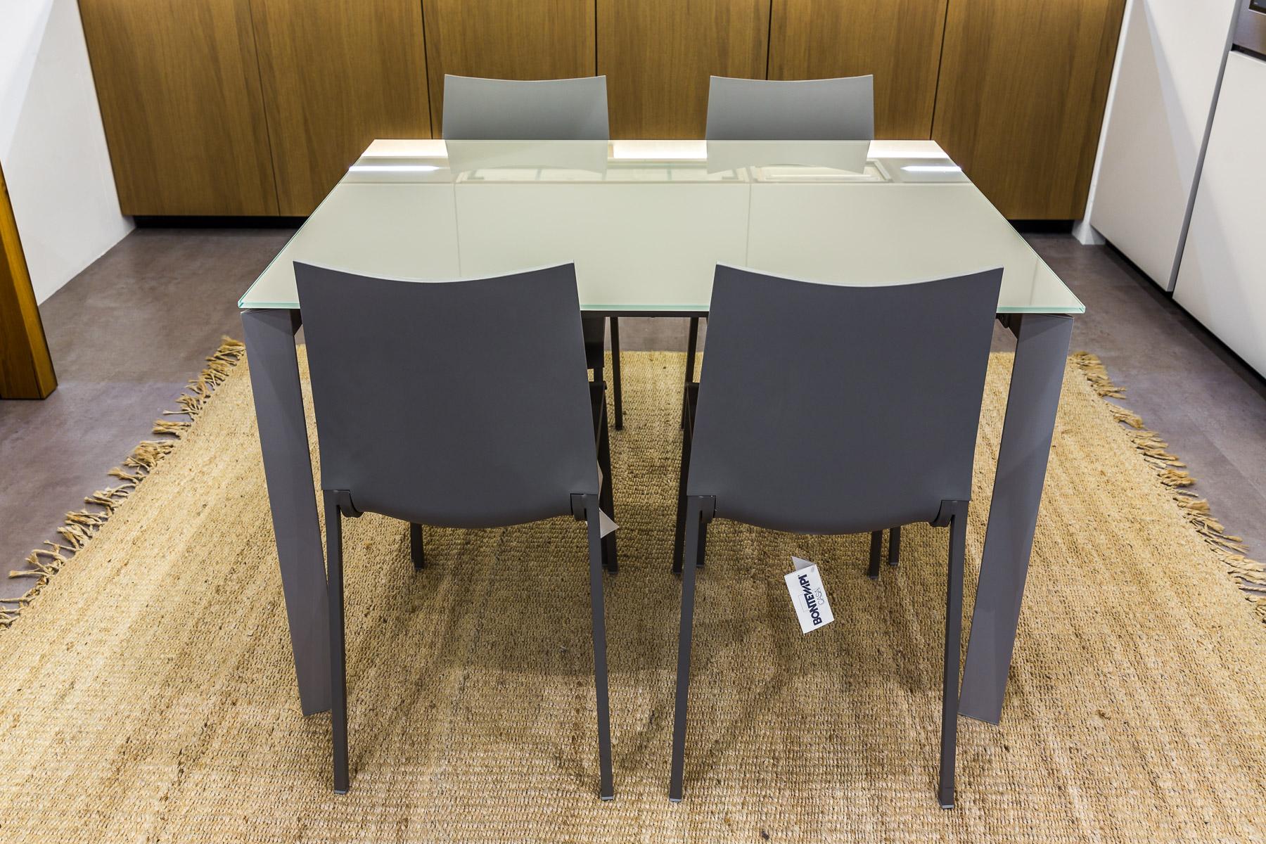 BONTEMPI Tavolo DUBLINO + 4 sedie EVA – Vallatinnocenti